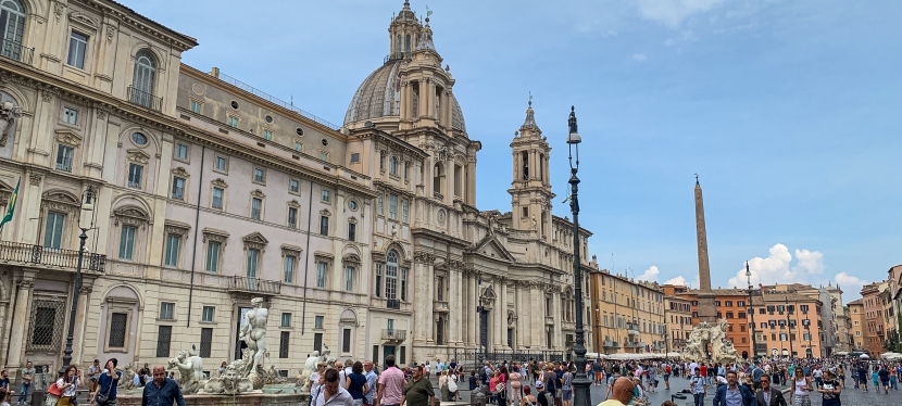 Explore history by walking the streets of Rome